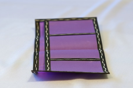 Pointy Wallet Spendy Model Purple with black trim