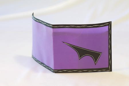 Pointy Wallet - Spendy model lavender with black trim