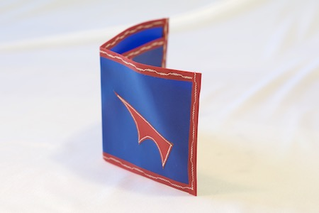 PointyWallet-Spendy-blue-RedTrim-standing