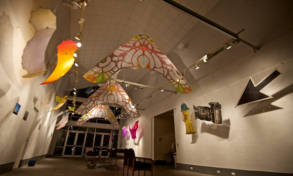 Kites - art show - Look Up show at Cofrin Gallery by Tim Elverston and Ruth Whiting