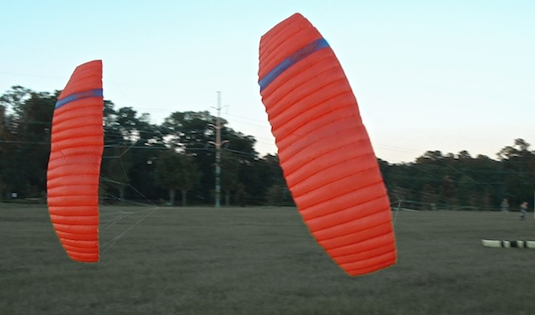 two 3.2 square meter foil kites - Zyzzle Foil - designed by Tim Elverston