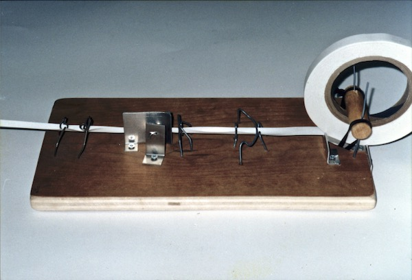 Dacron tape folding jig by Tim Elverston