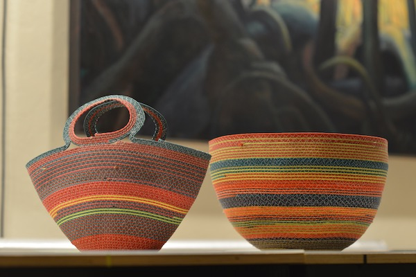 baskets made from recycled paraglider line by Tim Elverston