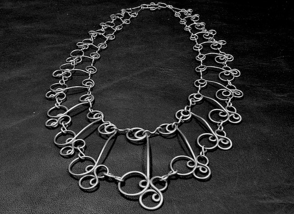 Necklace made by Tim Elverston - stainless steel wire