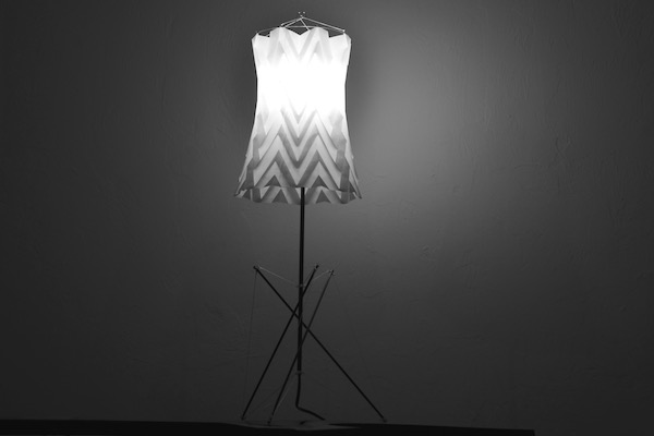 WindFire Designs Table Lamp - Design by Tim Elverston - Carbon fiber stainless steel and spectra line and laminate