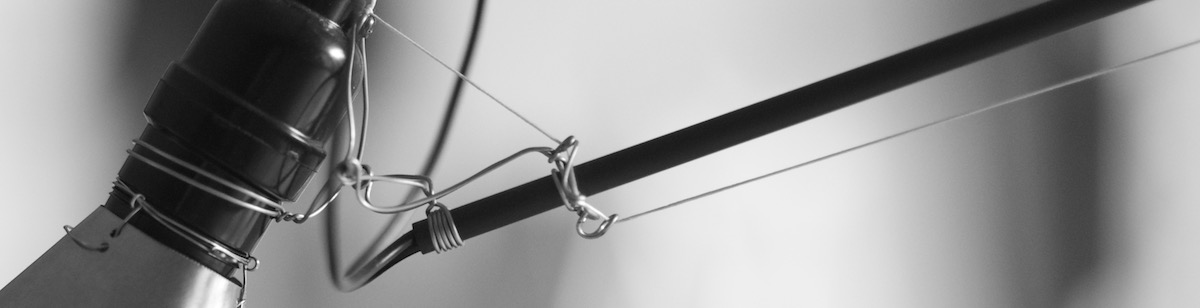 detail of articulated lamp fixture design by Tim Elverston
