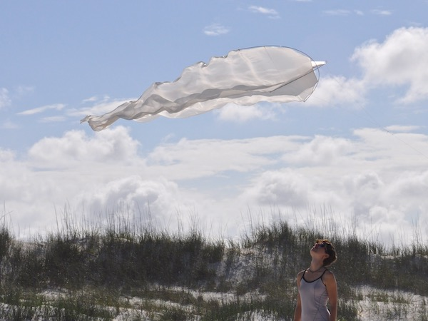 First Flowx kite test flight with Ruth Whiting at Anastasia beach