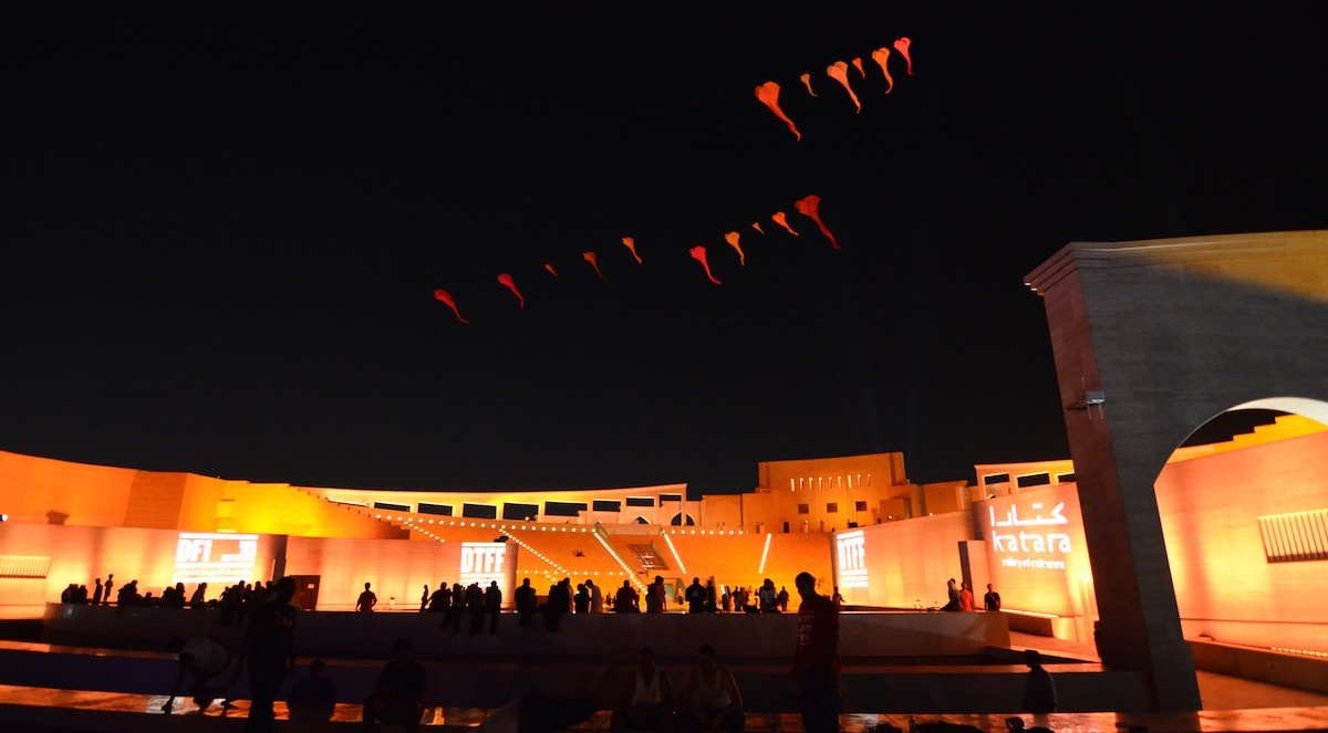 WindFire Designs outdoor kite show and performance in Doha, Qatar 2013