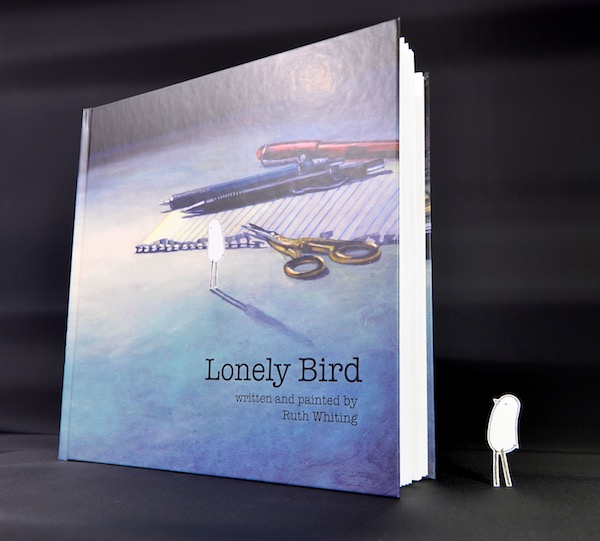 Lonely Bird - Artist's Edition - a painted book by Ruth Whiting