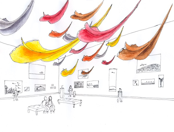 WindFire Designs Flowx Installation at Harn Museum Gainesville FL concept sketch