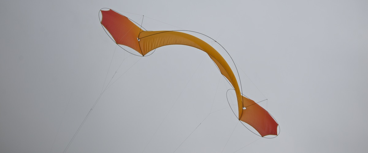 O2 Flame — silk kite, quadline, by WindFire Designs